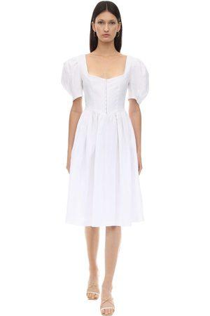 GIOIA BINI Clo Linen Dirndl Dress