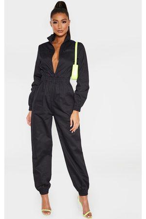 PRETTYLITTLETHING Boiler Contrast Zip Jumpsuit