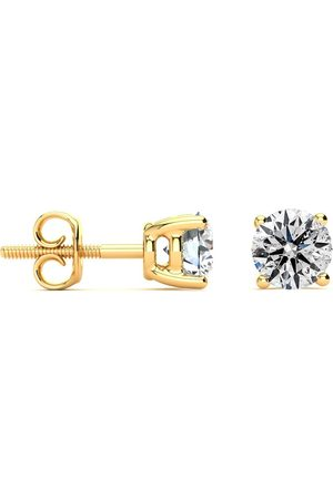 SuperJeweler 1.20 Carat Colorless Earth-Mined Diamond Stud Earrings