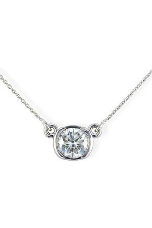 SuperJeweler Bezel Set .90 Carat Diamond Necklace