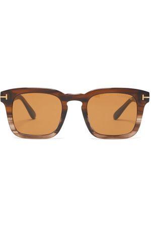 Tom Ford Eyewear Square Horn-effect Acetate Sunglasses - Mens