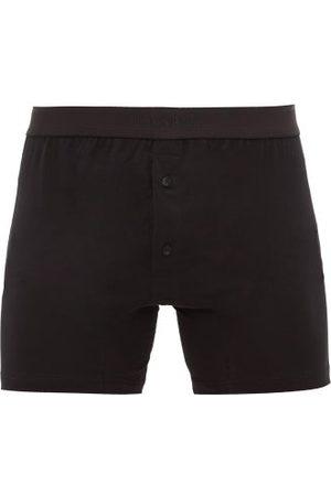 Sunspel Buttoned Superfine-cotton Boxer Briefs - Mens
