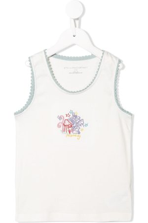 Stella McCartney Monday dragon embroidered tank top