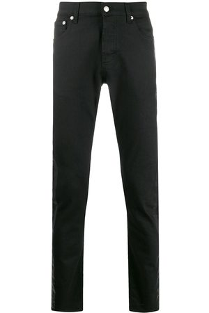 Alexander McQueen Men Straight - Side tape straight jeans