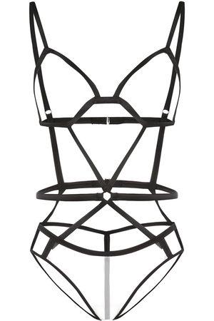 FLEUR DU MAL Women Lingerie Bodies - Bondage strap bodysuit