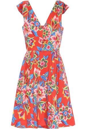 Carolina Herrera Floral stretch-cotton minidress