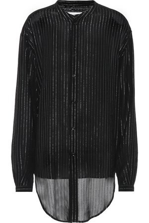 Saint Laurent Striped metallic shirt