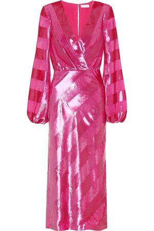 Rebecca Vallance Striped velvet dress