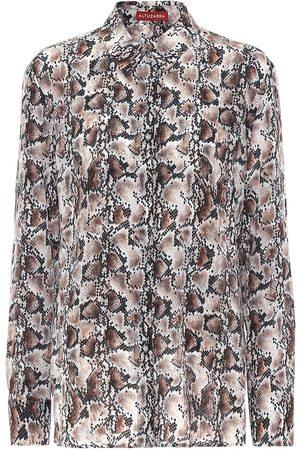 Altuzarra Chika snake-print silk blouse