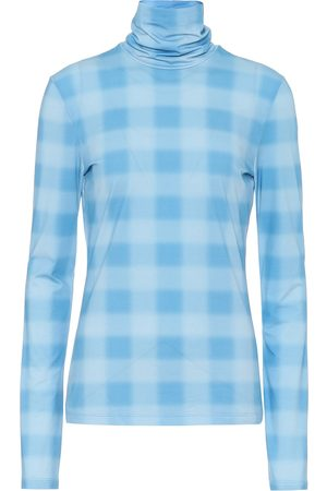 Proenza Schouler Checked stretch-cotton high-neck top