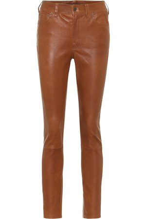 Polo Ralph Lauren Leather high-rise slim pants