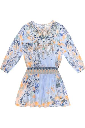 Camilla Embellished printed cotton dress