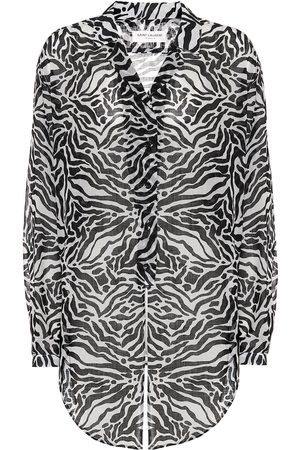 Saint Laurent Zebra-print wool shirt