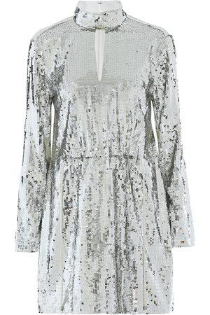 tibi Avril sequined cotton-twill dress