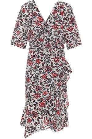Isabel Marant Arodie floral stretch-silk minidress
