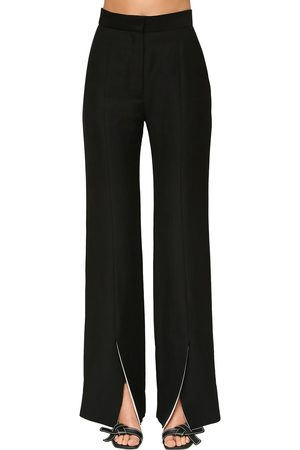 Loewe Frontal Slit Linen Blend Flared Pants