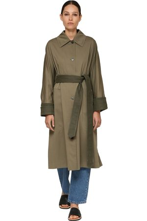Loewe Buttoned Cotton Blend Trench Coat