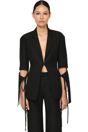 Loewe Cotton & Silk Crepe Jacket W/ Cut Outs