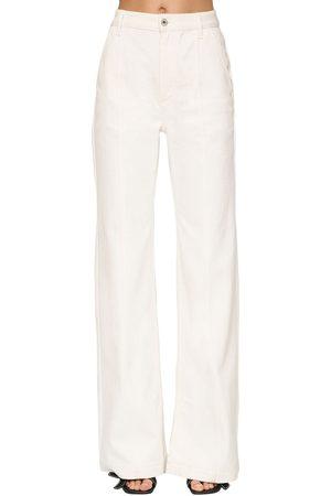 Loewe Women High Waisted - High Waist Cotton Denim Flared Jeans