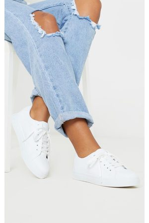 PRETTYLITTLETHING Lace Up PU Sneaker