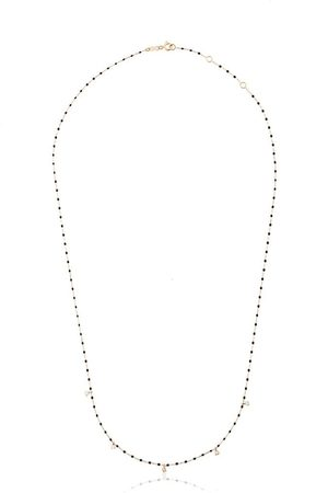GIGI CLOZEAU Women Necklaces - 18kt yellow gold beaded diamond necklace