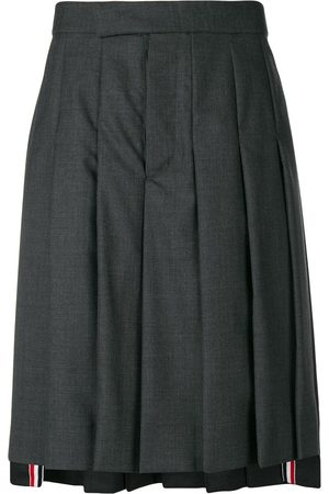 Thom Browne Classic-Rise Pleated Skirt - Grey