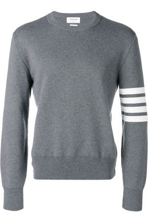 Thom Browne 4-Bar Milano Stitch Pullover - Grey