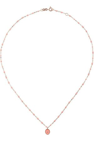 GIGI CLOZEAU 18kt rose gold Classic Gigi North Star diamond and salmon pink beaded necklace