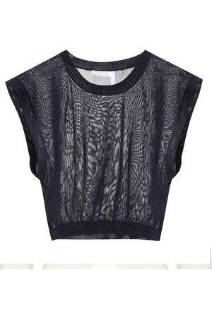 Chloé Sleeveless knit crop top