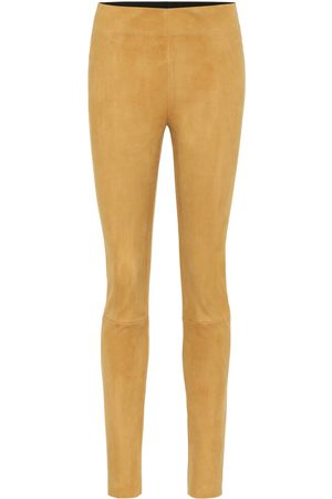 Jil Sander High-rise suede skinny pants