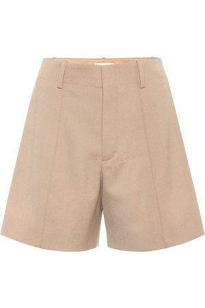 Chloé High-rise stretch-wool shorts