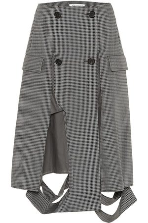 Maison Margiela Deconstructed houndstooth midi skirt