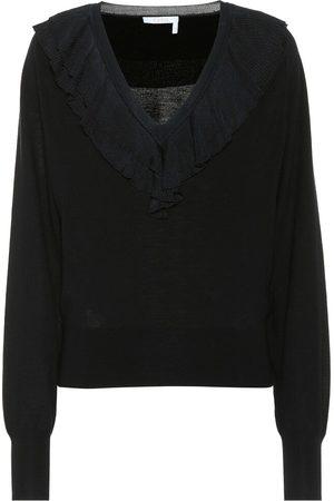 Chloé Ruffled wool sweater