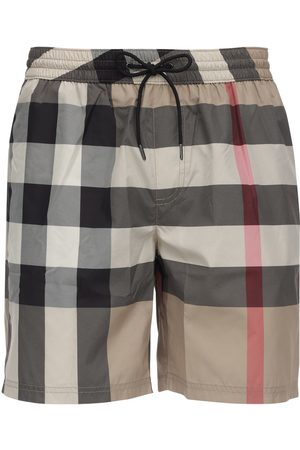 Burberry Check Print Techno Swim Shorts