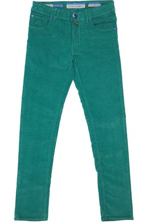 Jacob Cohen Slim Cotton Blend Corduroy Pants