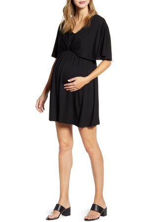 Maternal America Women's Cape Sleeve Maternity Dress