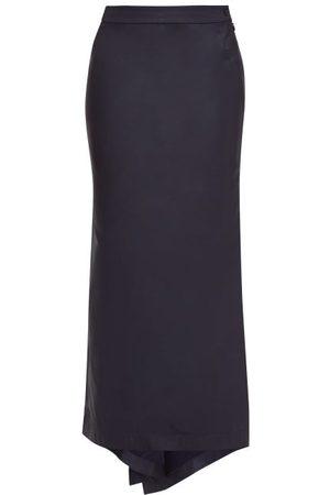 Raey Fishtail Silk Taffeta Maxi Skirt - Womens - Navy