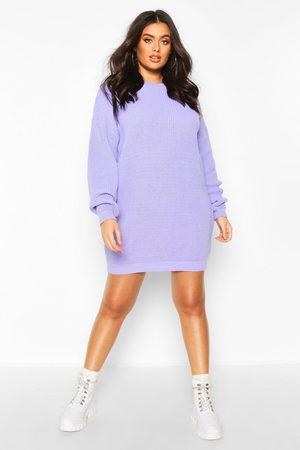 Boohoo Womens Plus Crew Neck Sweater Dress - - 12