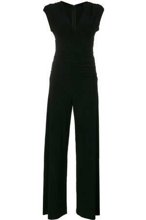 Norma Kamali Ruched plunge jumpsuit