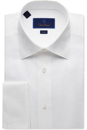 David Donahue Jacquard Regular Fit Dress Shirt