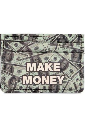 MAKE MONEY NOT FRIENDS Dollars Printed Card Holder