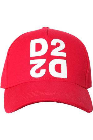 Dsquared2 D2 Print Cotton Canvas Baseball Hat