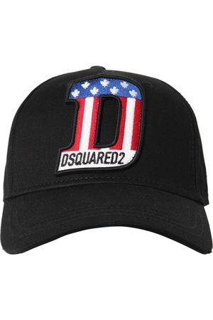 Dsquared2 Usa Patch Cotton Canvas Baseball Hat