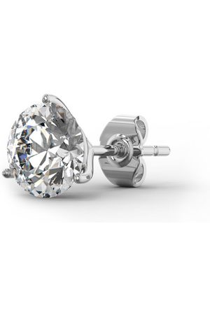 SuperJeweler 2 Carat Moissanite Martini Single Stud Earring in 14K