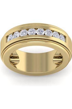 SuperJeweler 1 Carat Men's Diamond Wedding Band Ring in 14K (20 g)