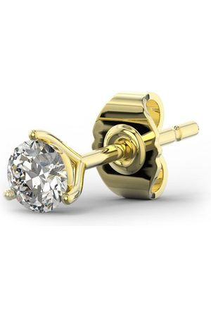 SuperJeweler 1/4 Carat Moissanite Martini Single Stud Earring in 14K
