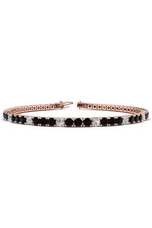 SuperJeweler 7.5 Inch 4 1/4 Carat Black & White Diamond Alternating Men's Tennis Bracelet in 14K (10.1 g)
