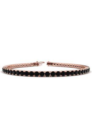 SuperJeweler 8 Inch 4 1/2 Carat Black Diamond Men's Tennis Bracelet in 14K (10.7 g) by