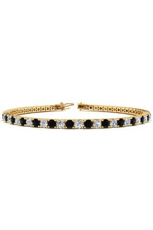 SuperJeweler 8.5 Inch 3 1/4 Carat Black & White Diamond Men's Tennis Bracelet in 14K (11.3 g)