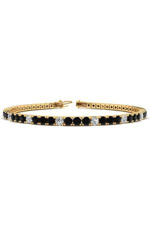 SuperJeweler 8 Inch 3 Carat Black & White Diamond Men's Tennis Bracelet in 14K (10.6 g)